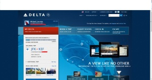 Delta Airlines Travel Account Homepage