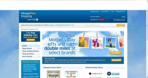 United Airlines Online Shopping Portal Mileage Plus