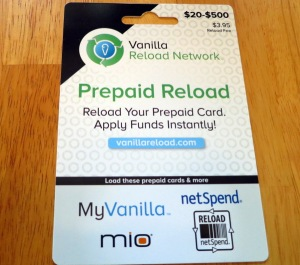 Vanilla Reload Card Travel American Express