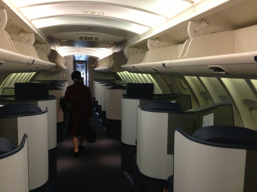 delta, travel, business class, 747, tokyo, narita, airplane, airline